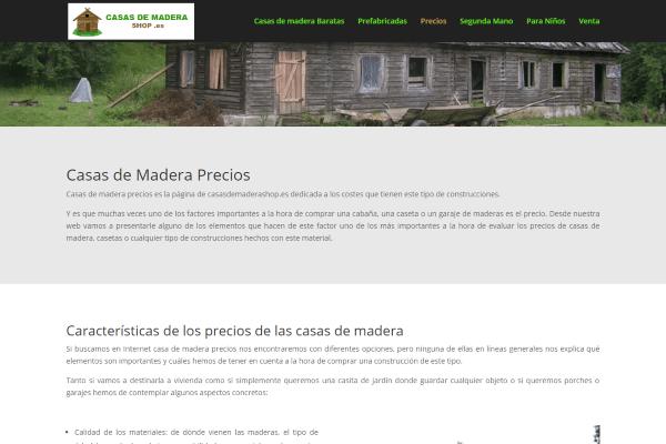 Casas de madera precios